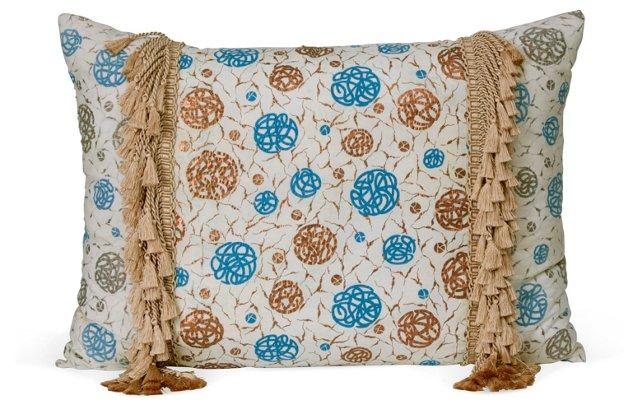 Vintage Geometric Fabric Pillow