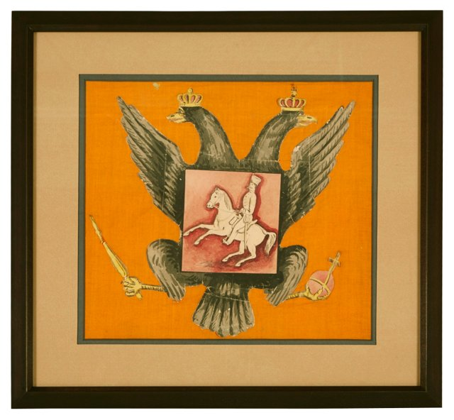Prussian Eagle & Horseman Drawing