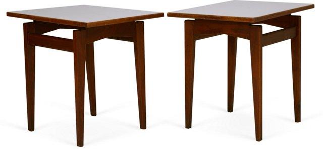 Danish Modern Side Tables, Pair