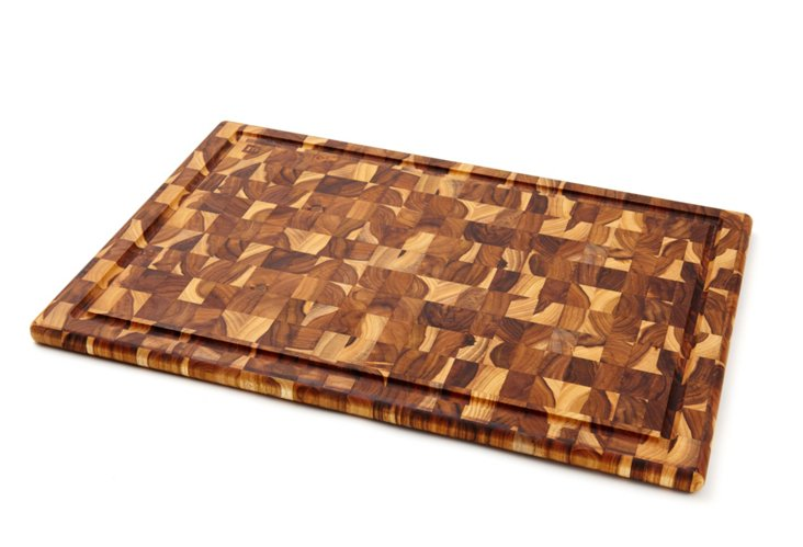 Teak Check Carving Board, X-Large