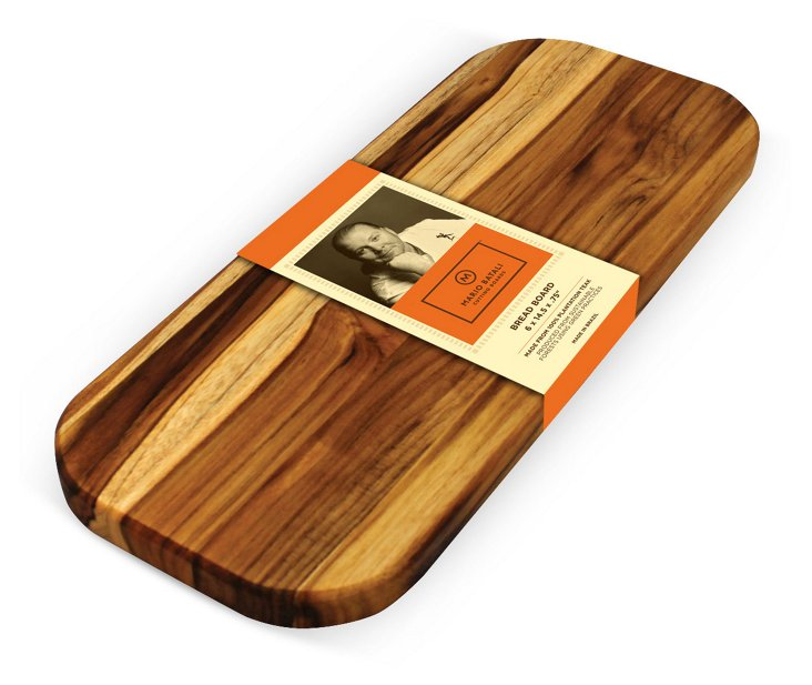 Small Edge Grain Teak Bread Board