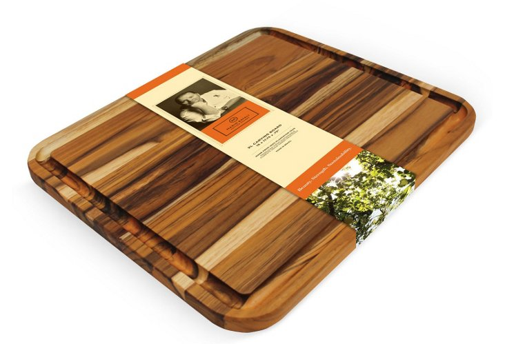Edge Grain Teak Carving Board, XLarge
