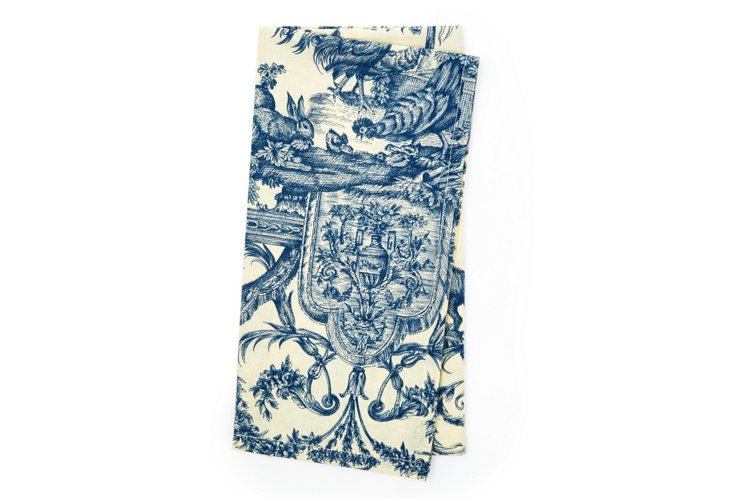 S/4 Toile Dissidents Napkins, Blue