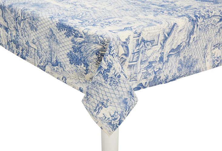 Toile Dissidents Tablecloth, Blue