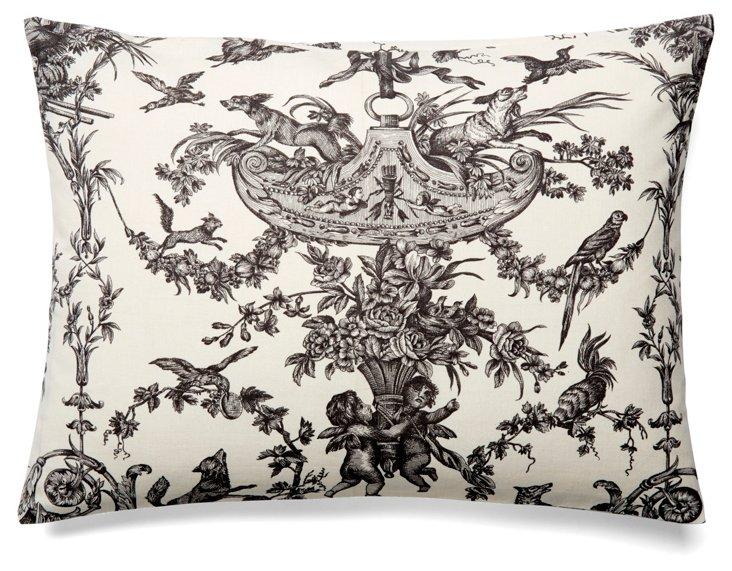 Versailles 12x16 Cotton Pillow, Gray