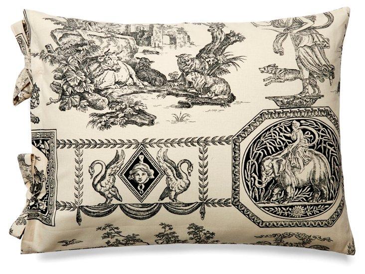 Delices 12x16 Cotton Pillow, Black