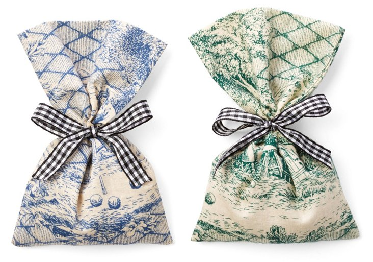 S/2 Lavender Sachets, Toile Dissidents