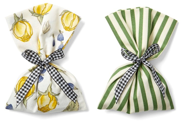 S/2 Lavender Sachets, Bouquet Yellow