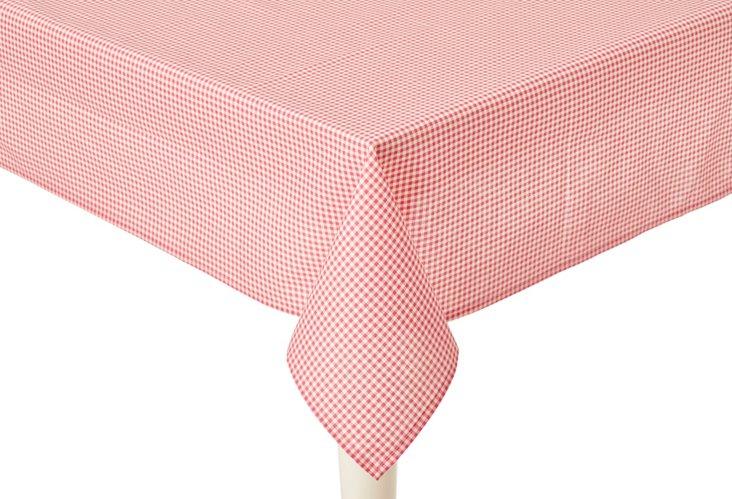 Mini Check Tablecloth, Rose