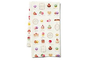 Macaron Tea Towel, Ecru/Multi*