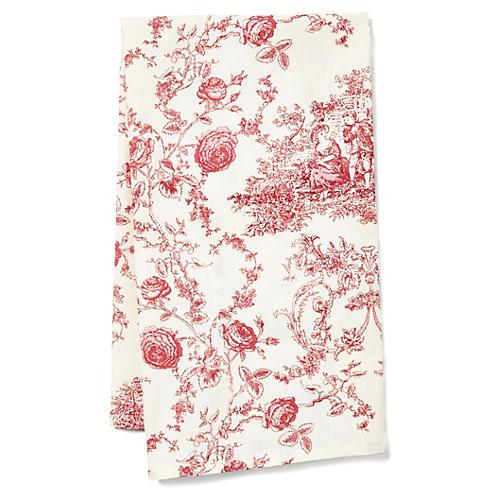 Princesse Tea Towel, Ecru/Berry