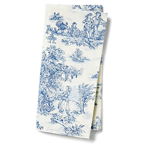 S/4 Indiennes Napkins, Blue