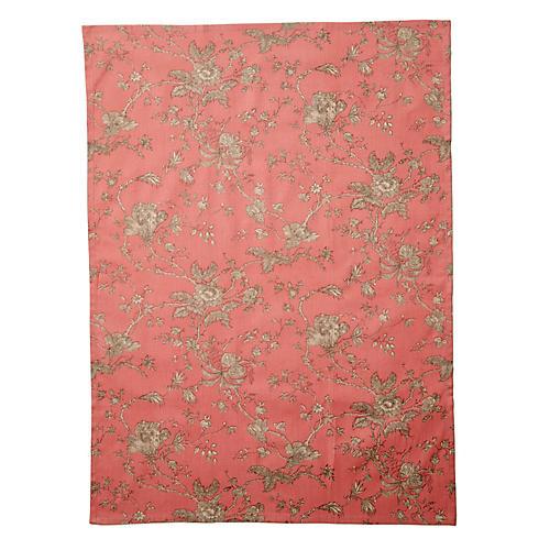 Old Rose Tea Towel, Red