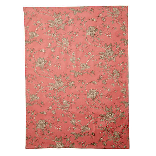 Old Rose Tea Towel, Red