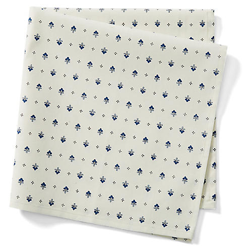 S/4 Vence Allover Dinner Napkins, White
