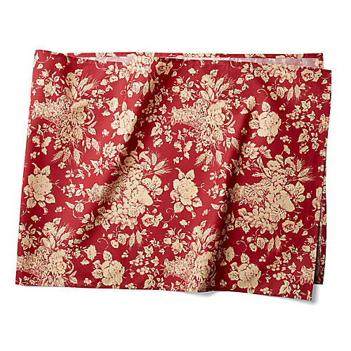 Panier Table Runner, Red/White