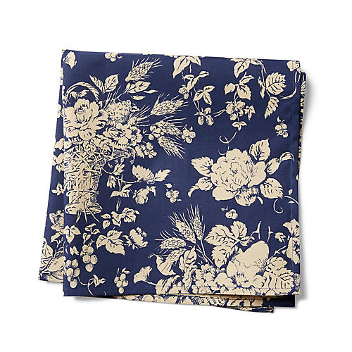 S/2 Panier Dinner Napkins, Blue/White