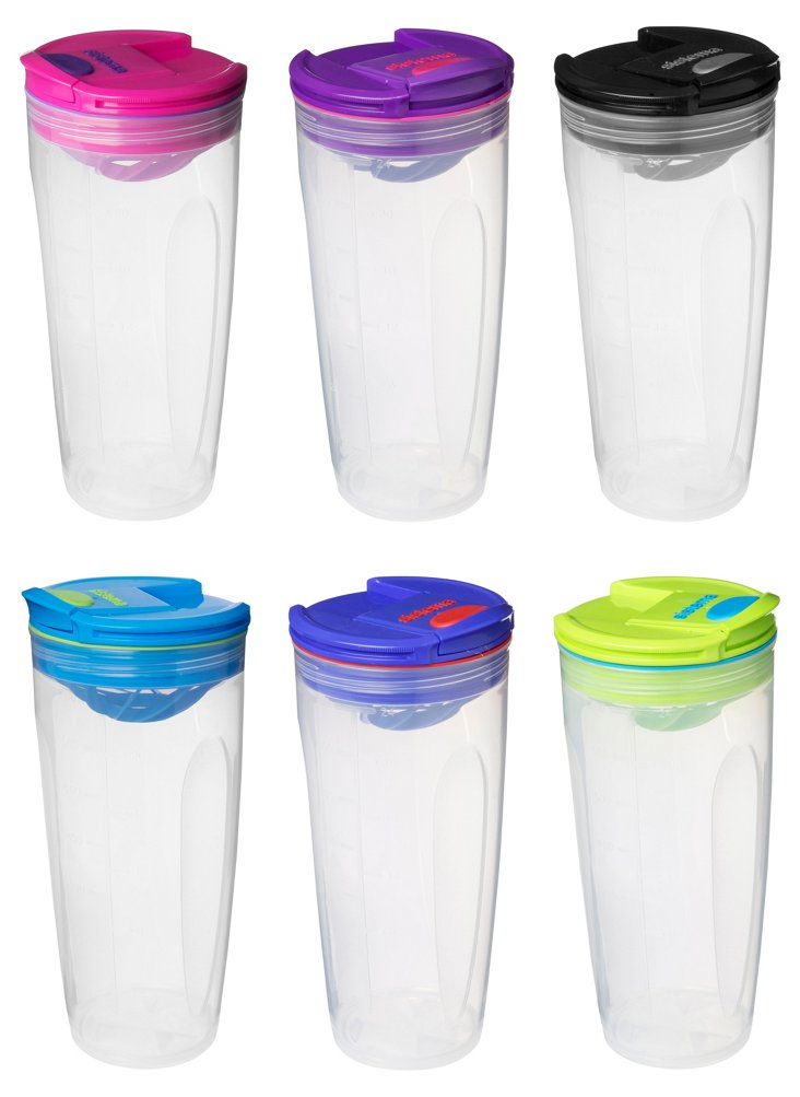 S/6 Assorted To-Go Shakers