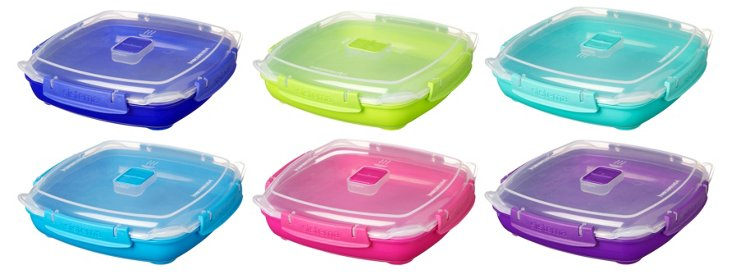 S/6 Assorted Containers/Microwave Plates