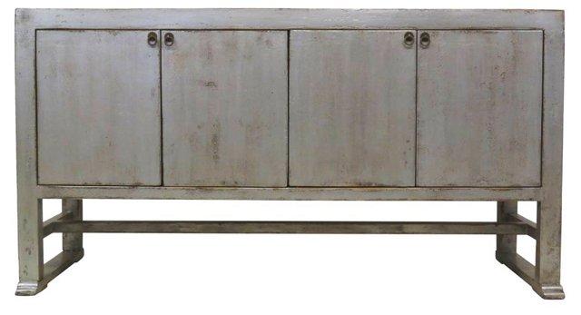Bertram 4-Door Sideboard, Silver