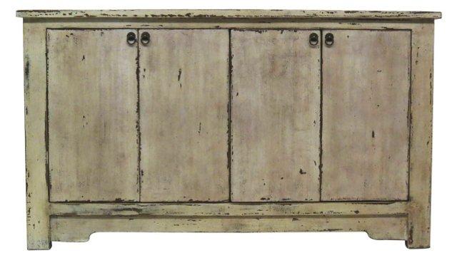 Logan 4-Door Sideboard, Cream