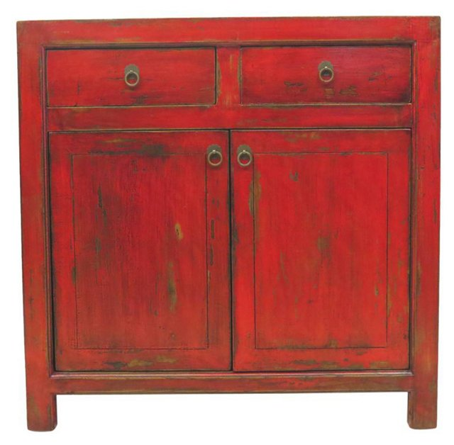 Linnea 2-Door Low Chest, Red