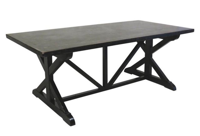 Humphrey Dining Table, Pewter