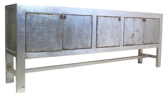 "Korin 98"" Sideboard, Silver"