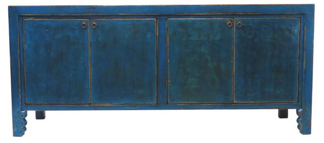 Addams 4-Door Tall Sideboard, Blue