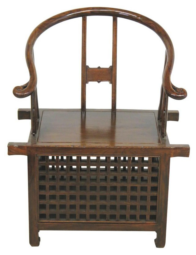 Hudson Horseshoe Chair, Brown