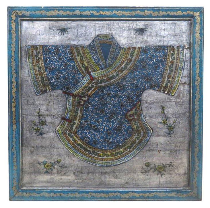 Gray/Blue Kimono Panel II