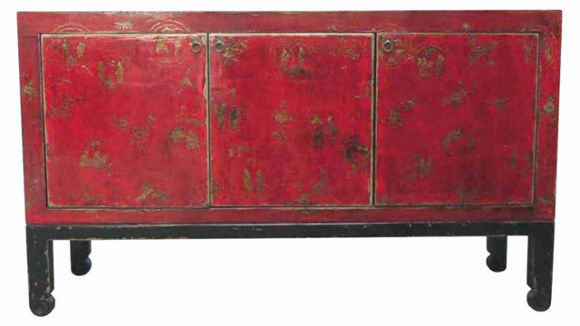 Ernst Sideboard, Red/Black
