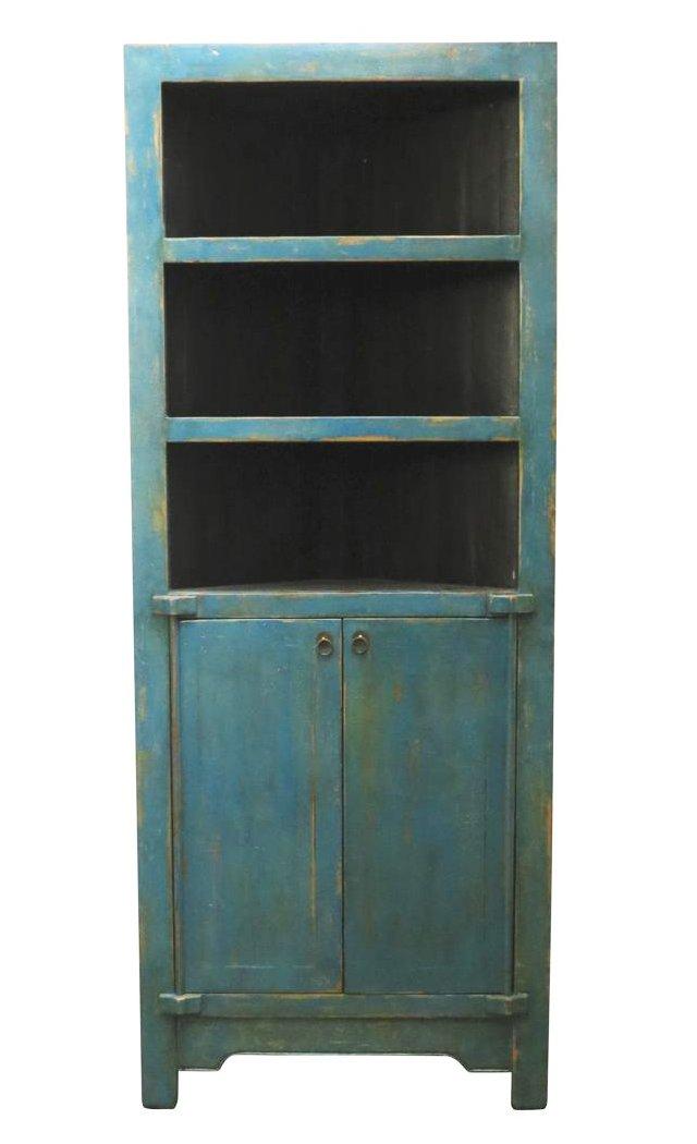 Rindlaub 3-Shelf Tall Cabinet, Blue