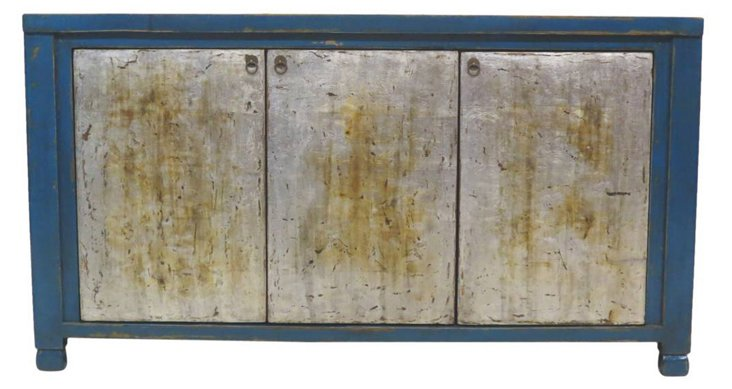 DNU,DISC3 Door Sideboard, Silver