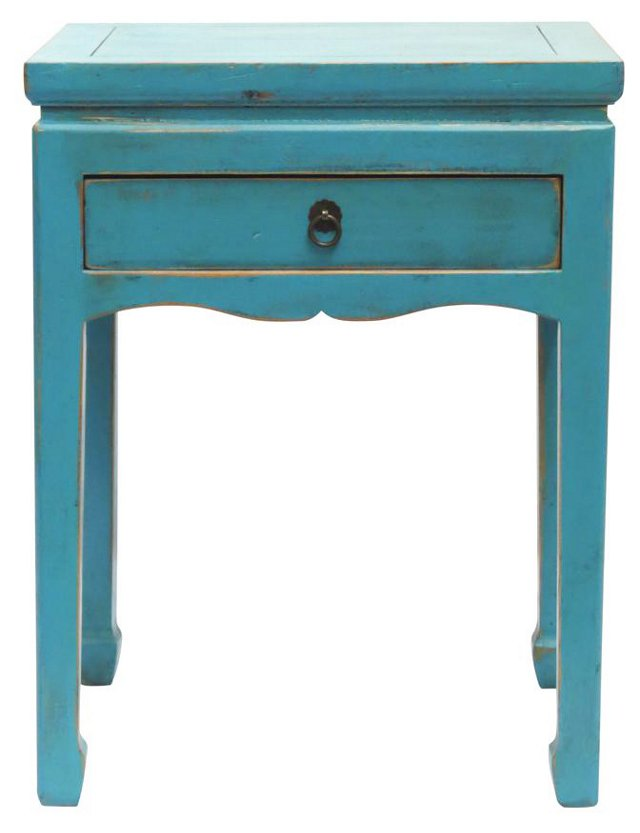 Blaker End Table, Turquoise