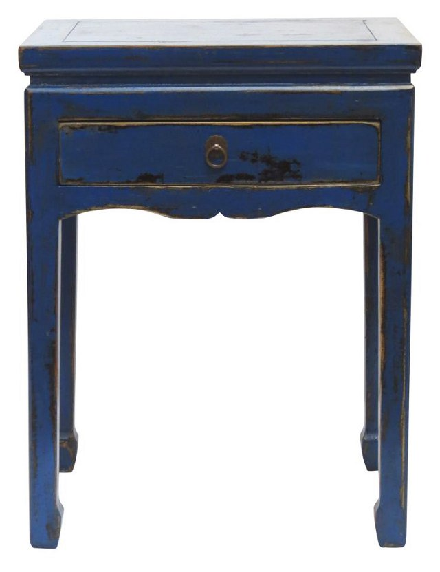 Blaker End Table, Blue