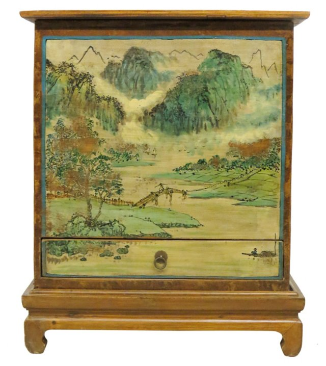 Painted Trunk, Brown/Cream