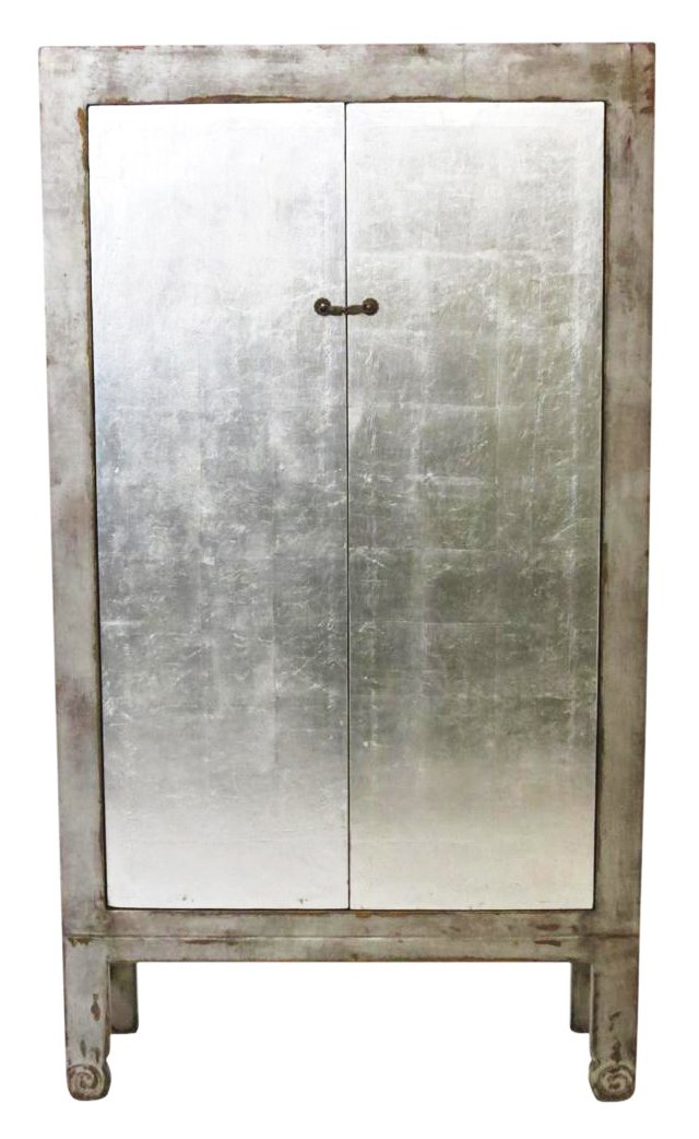 Piers Cabinet, Distressed Gray/Silver