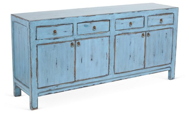 "Maxfield 72"" Sideboard, Light Blue"
