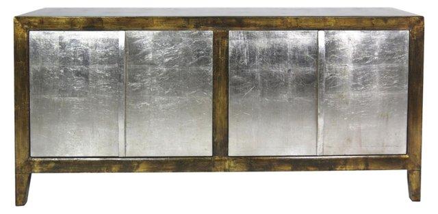 """Elise 72"""" Sideboard, Gold/Silver"""