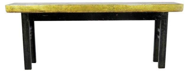 DNU,OCooper Console Table, Gold/Black