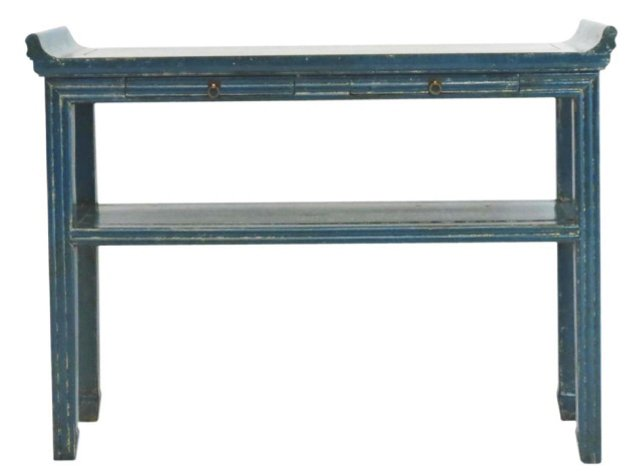 "Yun 43"" Console Table, Blue"