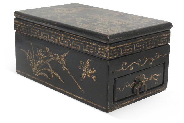 16x9 Black Drawer Jewelry Box