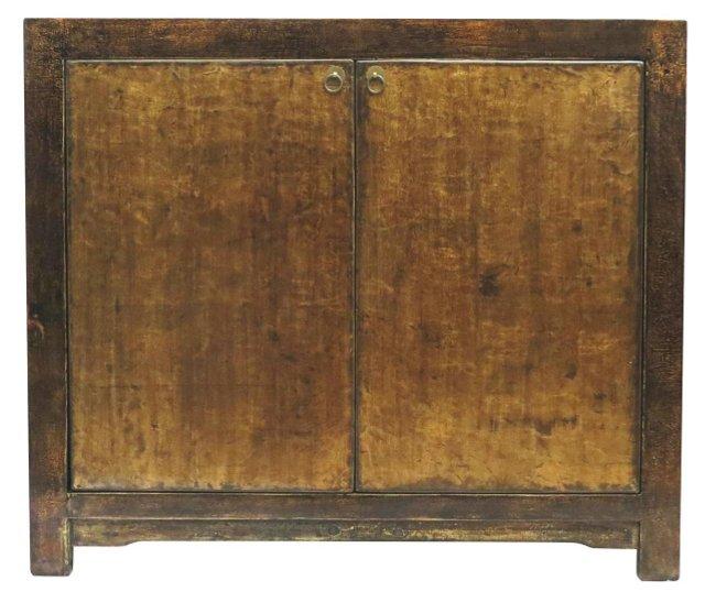 Doretta Low Cabinet, Gold