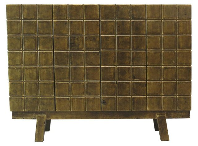 Huxley Sideboard, Distressed Gold