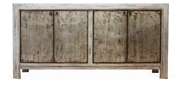 Barrett Sideboard, Silver/Gold