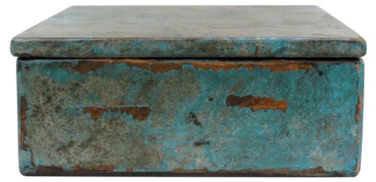 Rustic Teal Jewelry Box