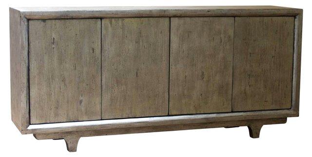 Morgan 4-Door Tall Sideboard, Gray
