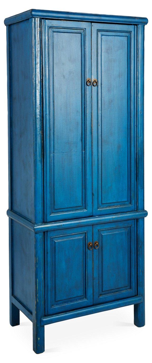 Aegean Tall Cabinet, Blue