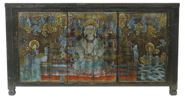 Kai Ming Buddha 3-Door Tall Sideboard